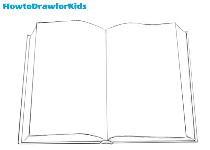 How to draw a book for kids
