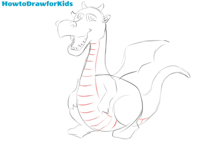 How to draw a dragon step by step easy