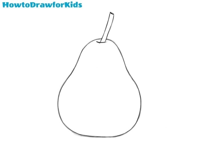 How to draw a pear for beginners