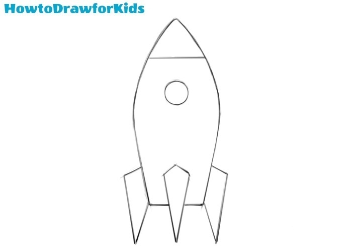 How to draw a spaceship easy