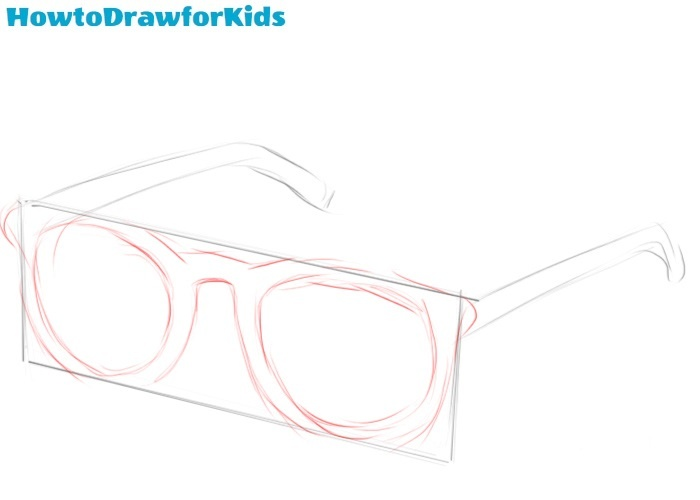 How to draw glasses for beginners