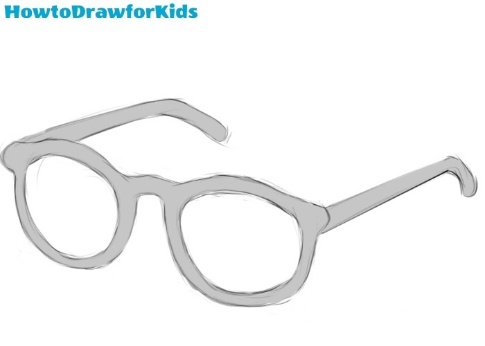 How to draw glasses for kids