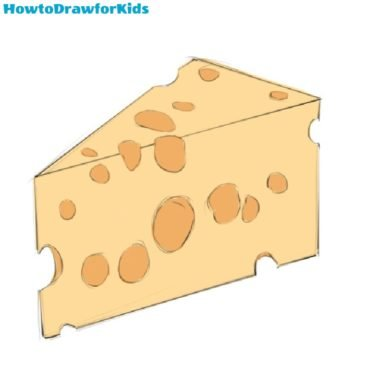 How to Draw a Cheese for Kids