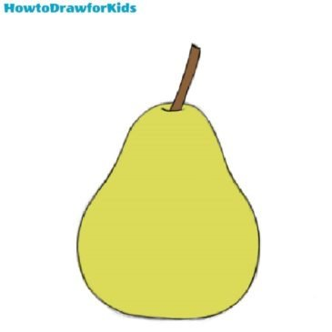 How to Draw a Pear for Kids