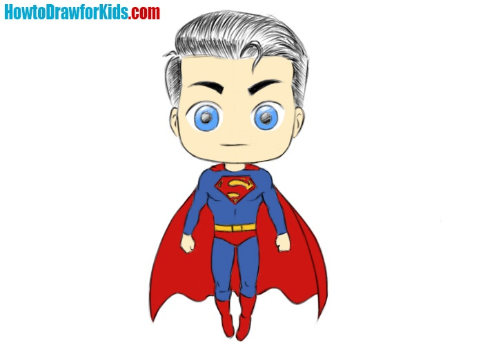 ow to draw Superman for kids easy