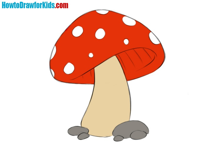 How To Draw A Mushroom For Kids How To Draw For Kids