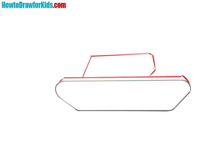 How to sketch a tank for kids