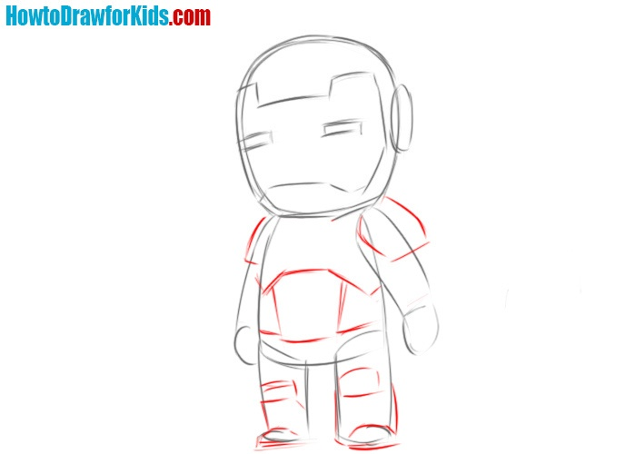 How to draw Iron Man for beginners