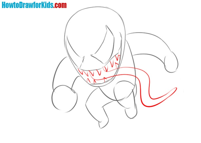 How to draw Venom head
