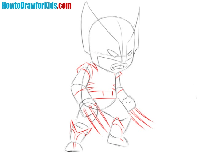 How to draw Wolverine for beginners