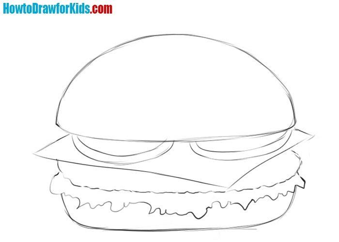 How to draw a burger for beginners