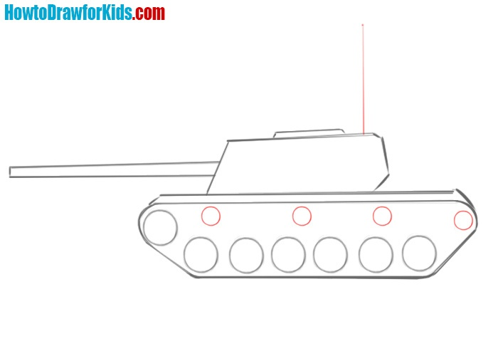 How to draw a tank easy step by step