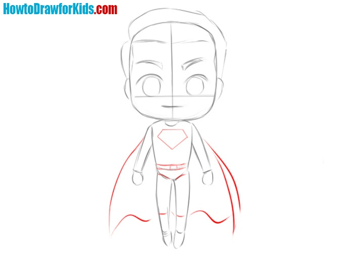 How to sketch Superman easy