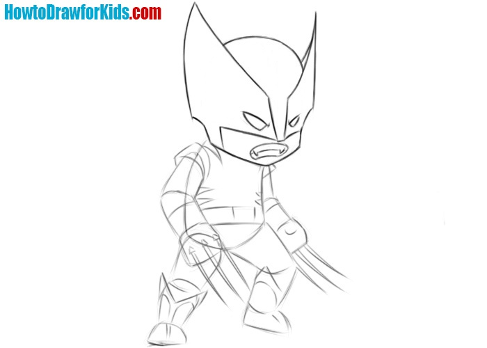 How to sketch Wolverine
