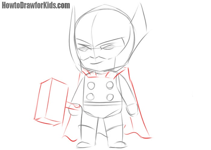 How to draw Thor for beginners easy