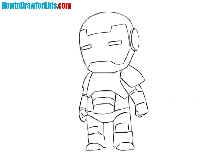 Iron Man drawing tutorial