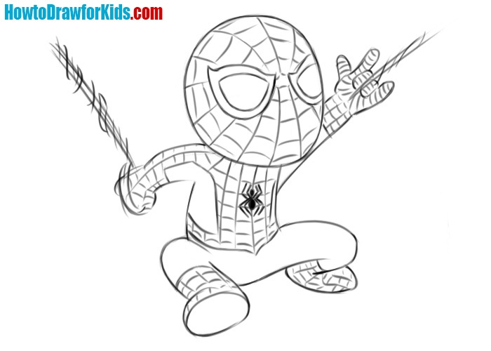 How to draw Spider-Man for beginners