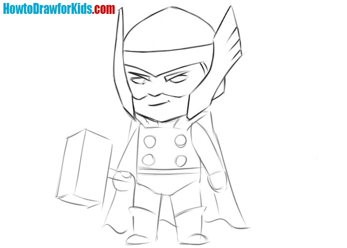 How to draw Thor easy for children