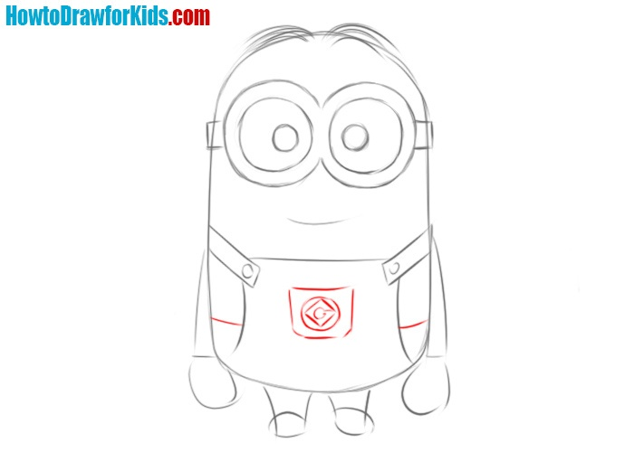 How to draw a Minion from cartoon