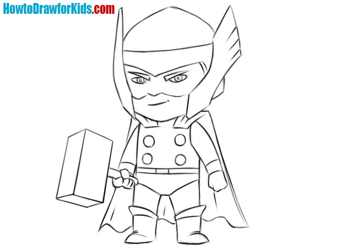 Thor drawing  tutorial