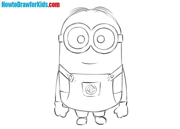 Minion drawing tutorial from despicable me