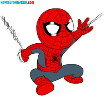How to Draw Spider-Man for Kids