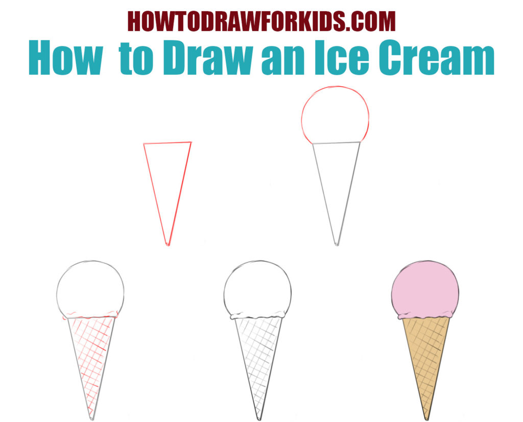 How to draw an ice cream for kids